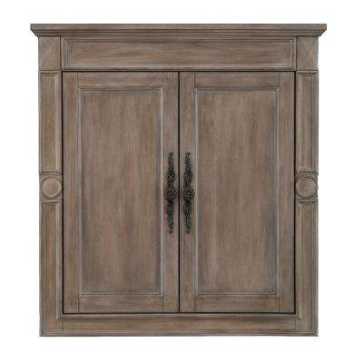 Astoria Park 28 in. W x 30 in. H Wall Cabinet in Antique Ash