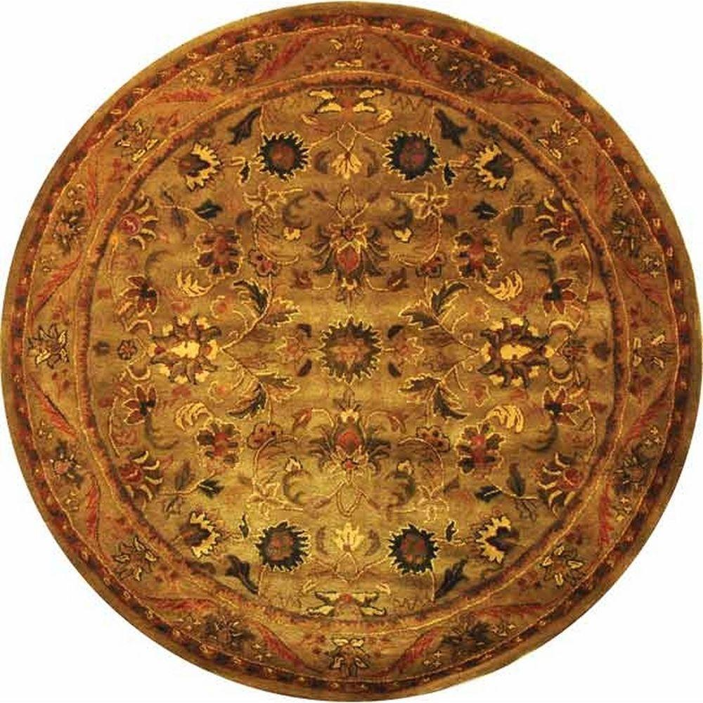 Safavieh Antiquity Olive/Gold 8 ft. x 8 ft. Round Area Rug