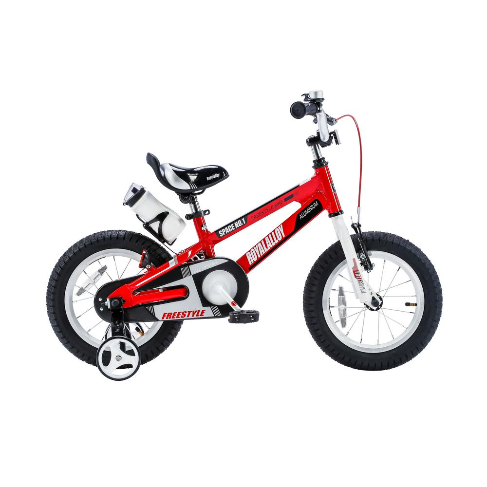 Royalbaby 14 in. Wheels Space No. 1 Kid's Bike, Boy's Bikes and Girl's Bikes, Light Weight Aluminum with Training Wheels in Red