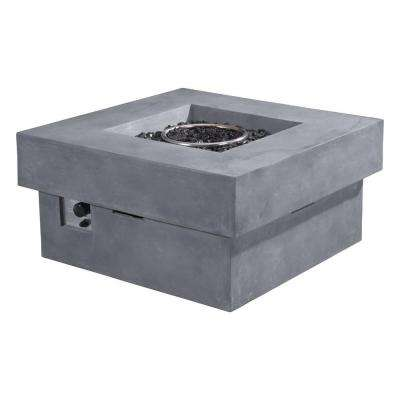 Diablo 36 in. Fire Glass Rocks Propane Fire Pit in Gray