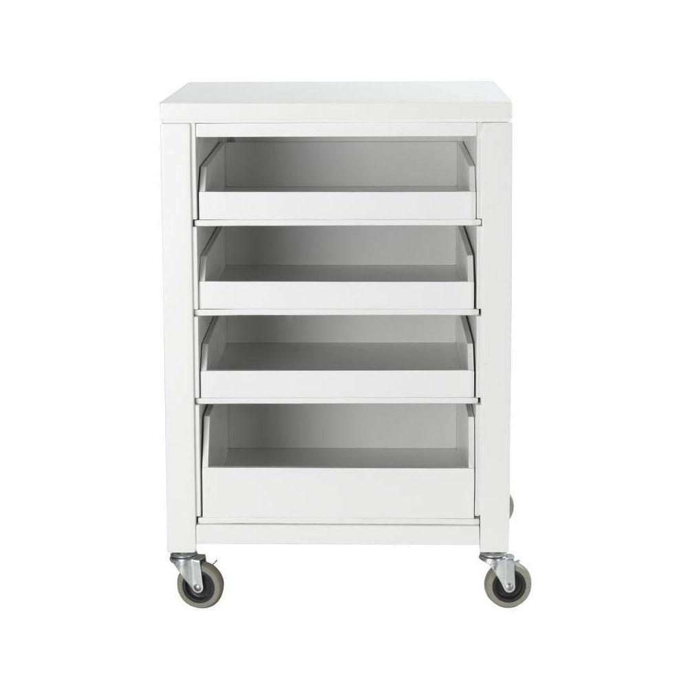 MarthaStewartLiving Martha Stewart Living 31 in. H Picket Fence Cart With Pull Out Trays