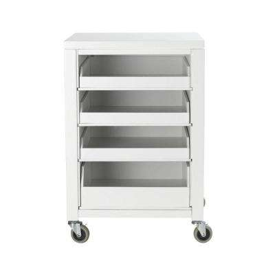 31 in. H Picket Fence Cart With Pull Out Trays