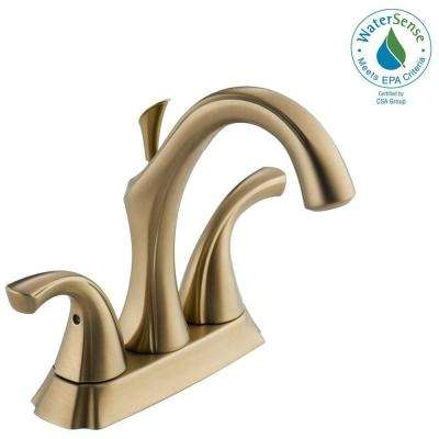 Addison 4 in. Centerset 2-Handle Bathroom Faucet with Metal Drain Assembly in Champagne Bronze