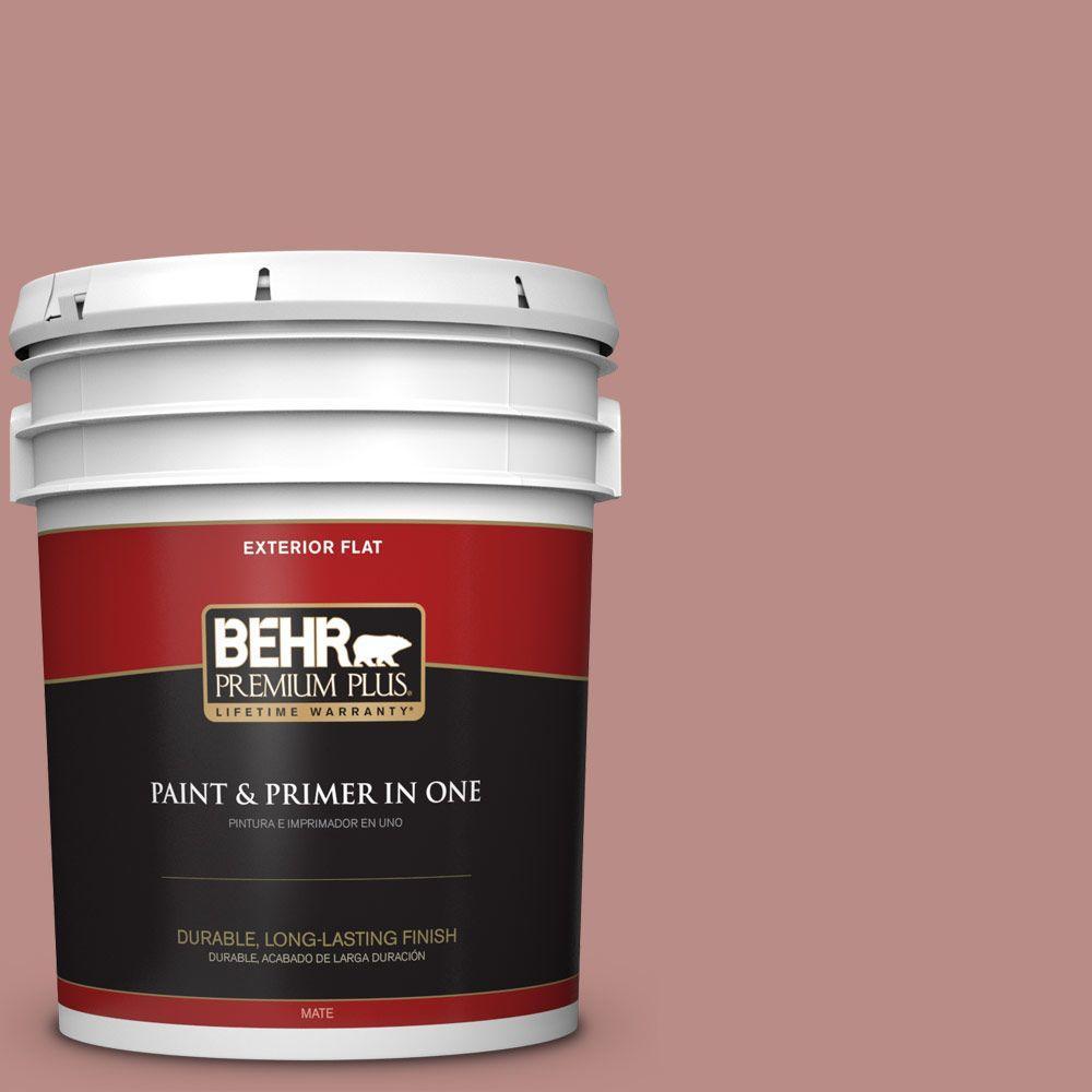 5-gal. #170F-5 Brick Dust Flat Exterior Paint