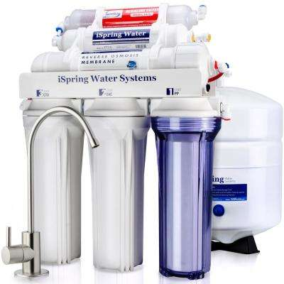 6-Stage High Capacity Under Under Sink Reverse Osmosis Drinking Water Filter System with Alkaline Remineralization