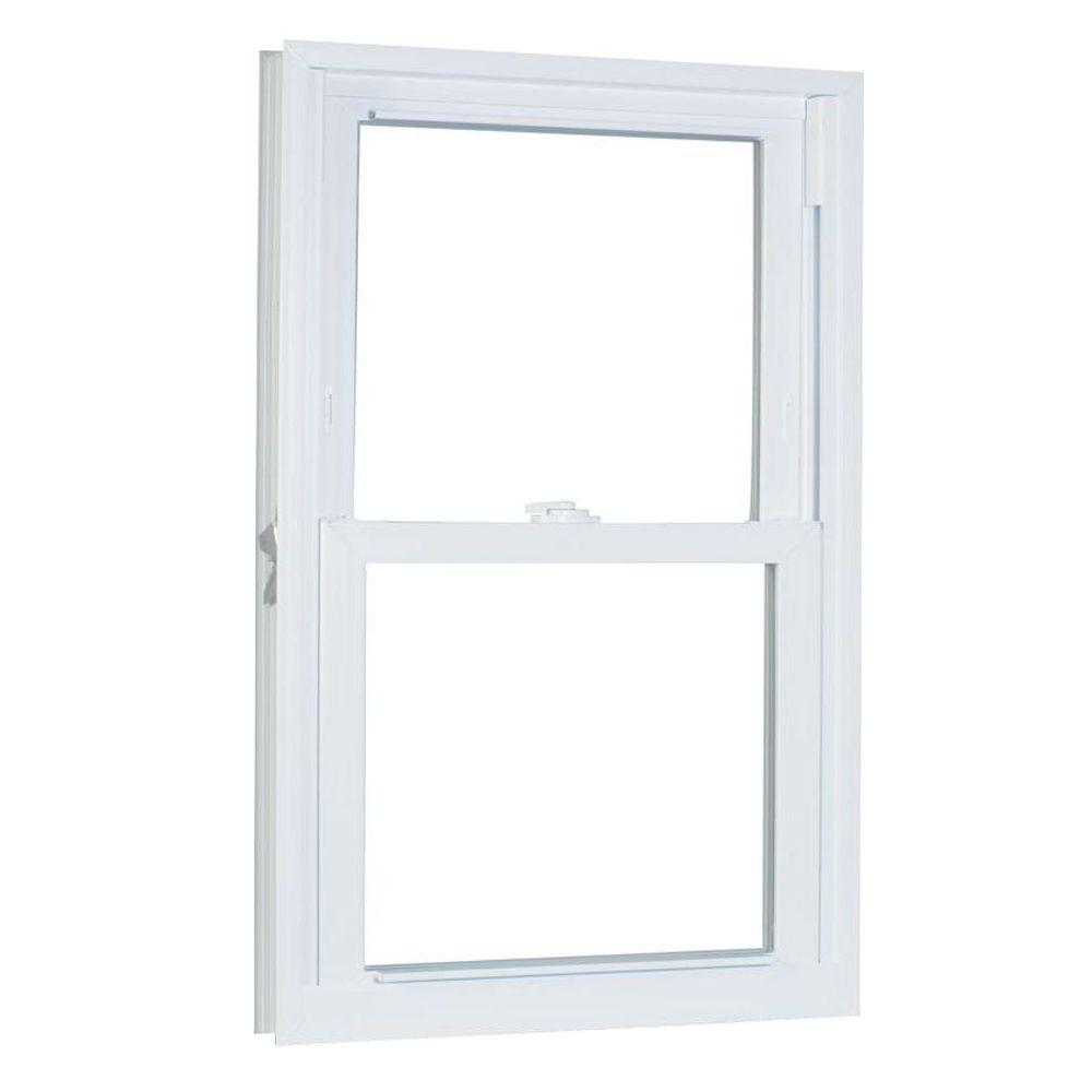 American Craftsman 35.75 in. x 37.25 in. 70 Series Double Hung Buck Vinyl Window - White