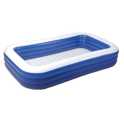 Family 120 in. x 72 in. x 22 in. D Inflatable Rectangular Above Ground Pool