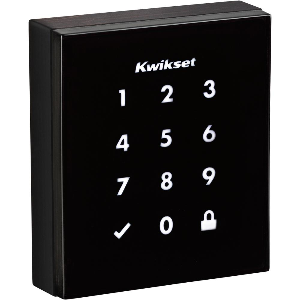Obsidian Venetian Bronze Keyless Electronic Touchscreen Deadbolt Featuring