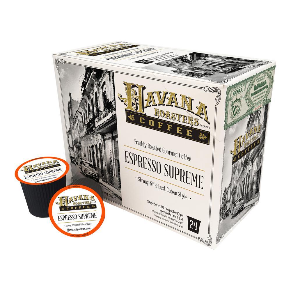 Espresso Supreme 24 K-Cups Coffee Box (4-Boxes)