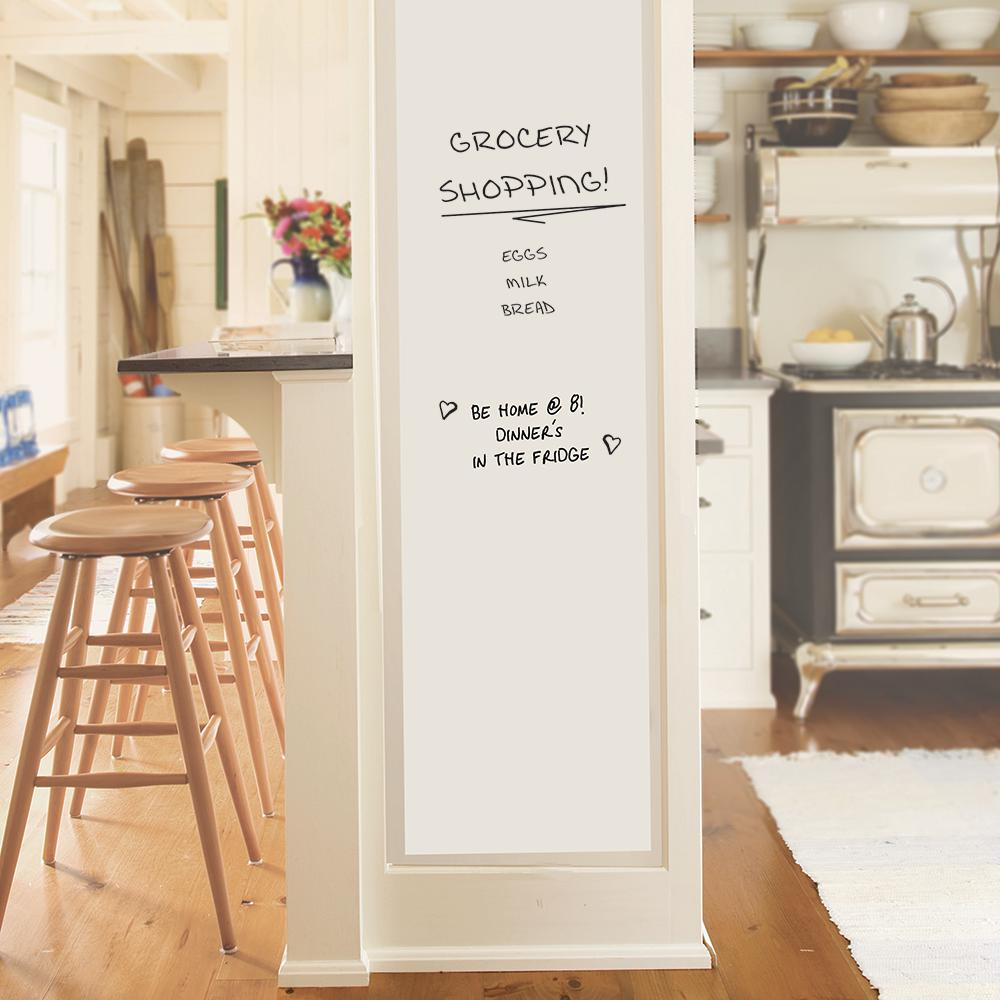 82abf7b7278d Wall Pops 42 in. x 54 in. White Giant Dry Erase Decal WPE2159 - The ...