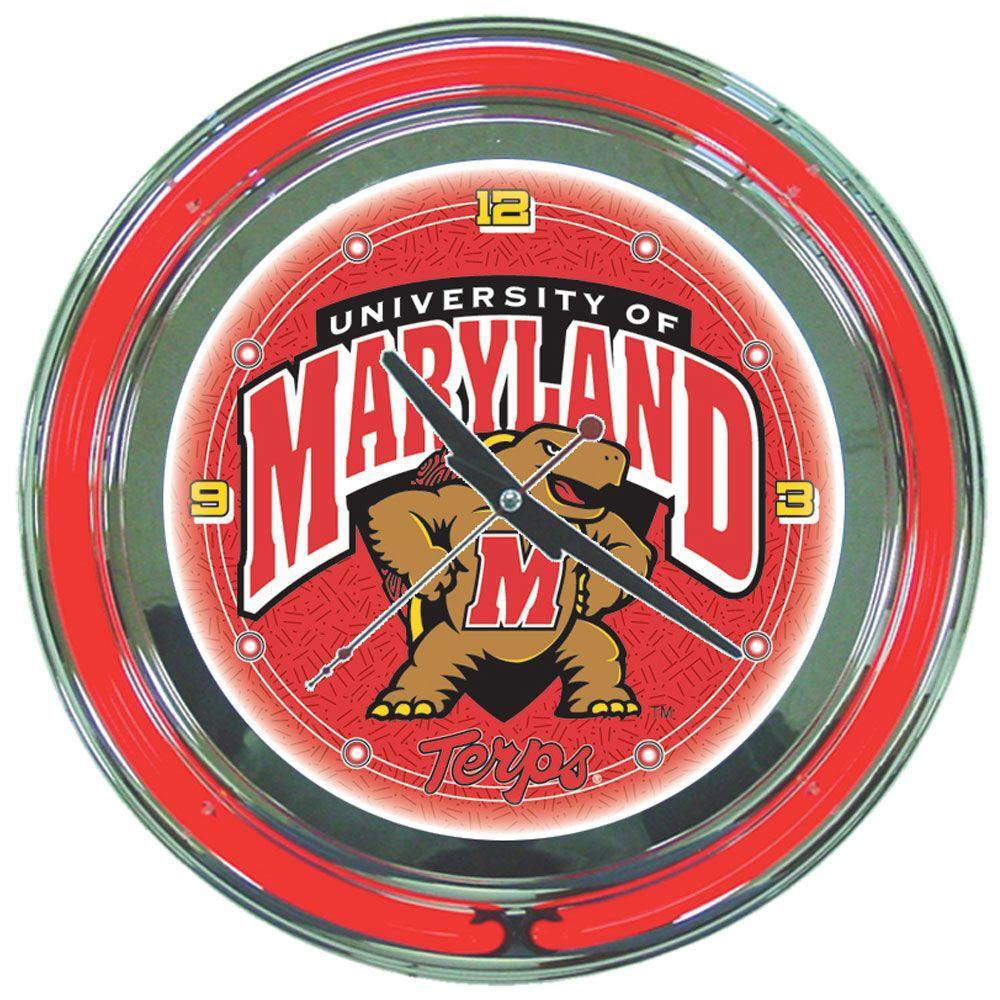 Trademark 14 In Maryland University Neon Wall Clock Clc1400 Md