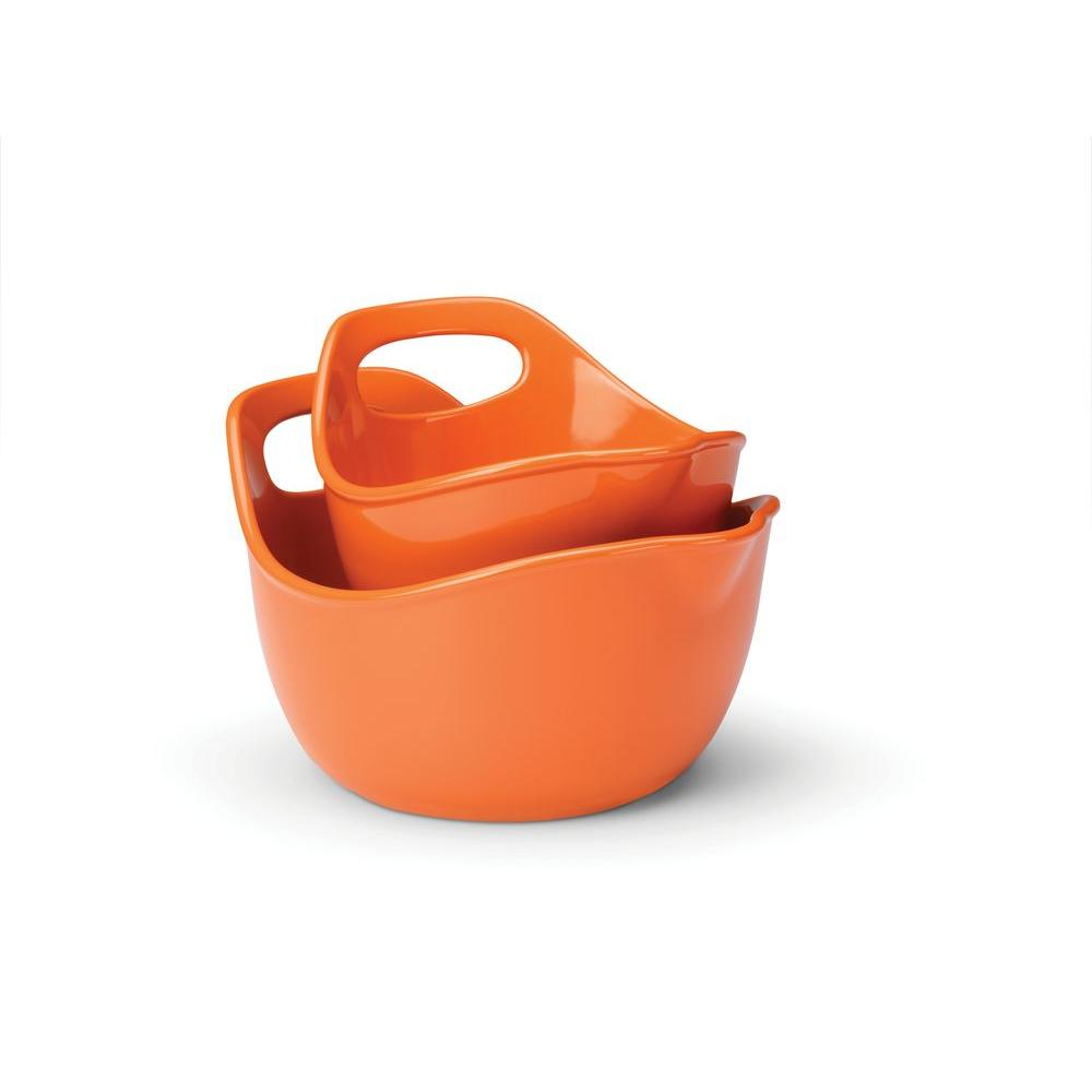 Rachael Ray 2-Piece Mixing Bowl Set in Orange