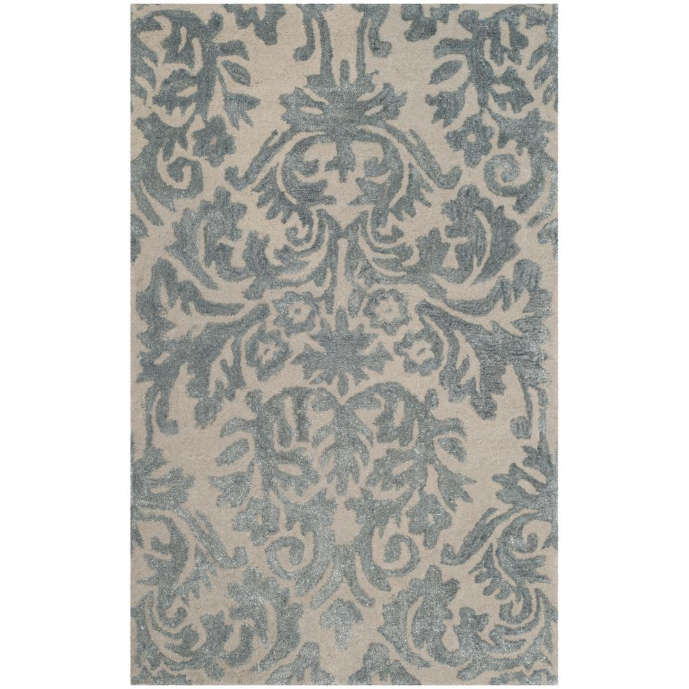 c293d4b2d Safavieh Bella Ivory Silver 3 ft. x 4 ft. Area Rug-BEL156A-24 - The ...
