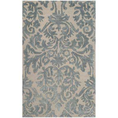 Bella Ivory/Silver 3 ft. x 4 ft. Area Rug