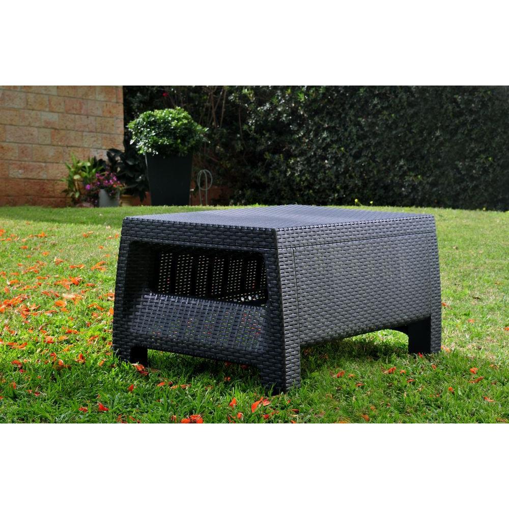 Cappuccino Keter Corfu Outdoor Garden Coffee//Storage Table