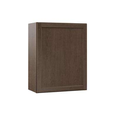 Shaker Assembled 24x30x12 in. Wall Kitchen Cabinet in Brindle