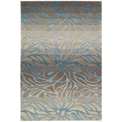 Contour Ocean Sand 3 ft. 6 in. x 5 ft. 6 in. Area Rug