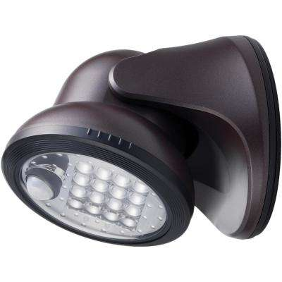 100-Degree Bronze Motion Activated Integrated LED Outdoor Wireless Flood Light