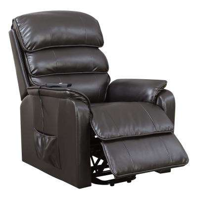 Jondo Brown Leatherette Power-Assist Recliner