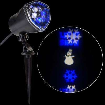 LED Projection Whirl-a-Motion-Snowman BBWW Stake Light Set