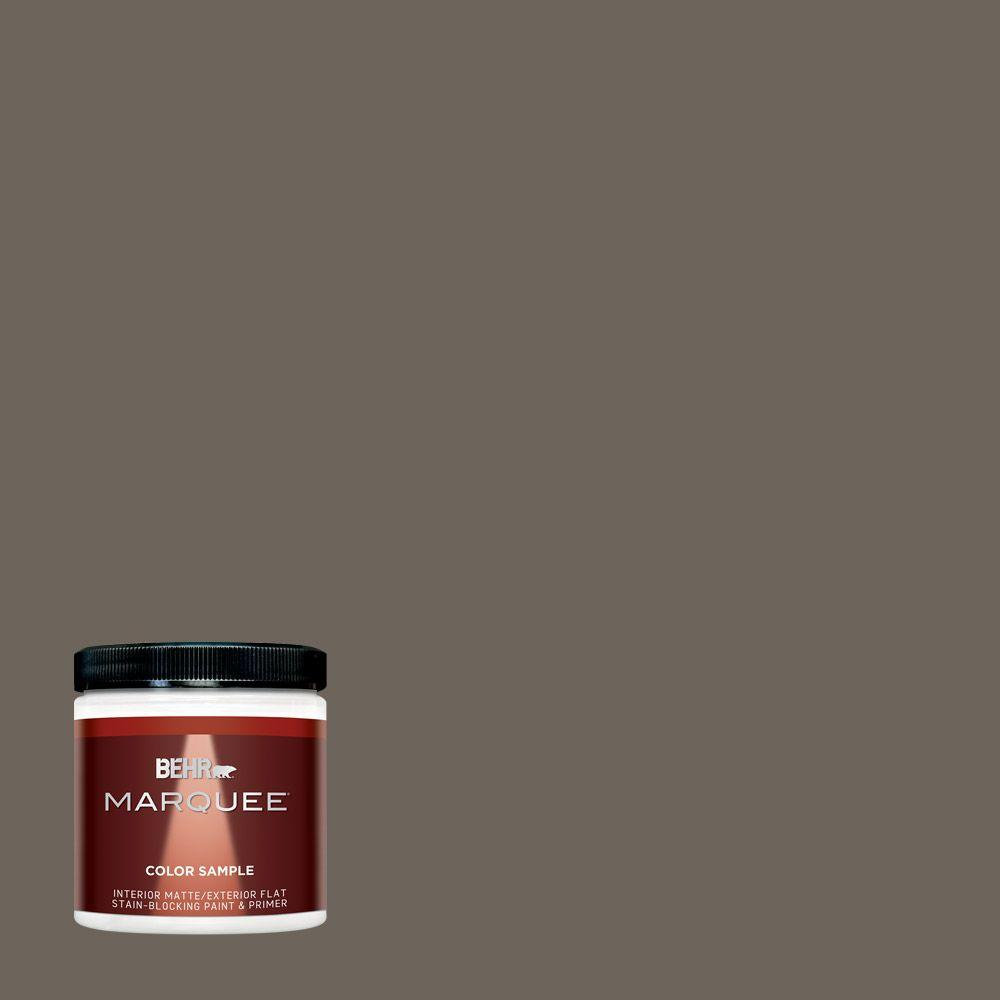 Behr marquee 8 oz n360 6 patio stone one coat hide interior exterior flat matte paint sample for Best one coat coverage exterior paint