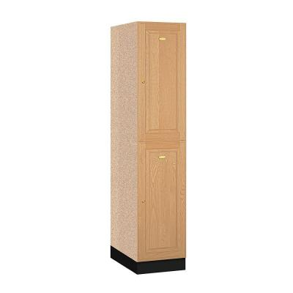12000 Series 16 in. W x 76 in. H x 21 in. D 2-Tier Solid Oak Executive Locker in Light Oak
