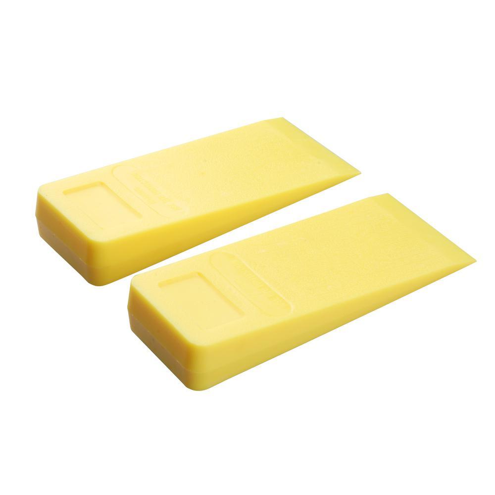 8 in. Plastic Felling Wedge (2-Pack)