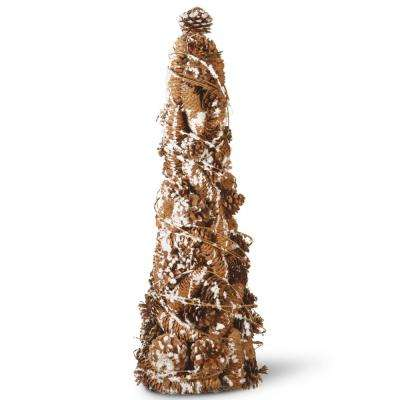 22 in. Pinecone Tree