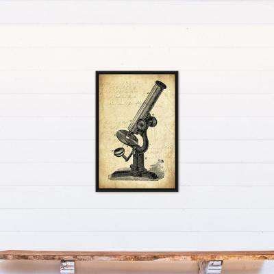 20 in. x 30 in. ''Vintage Telescope'' Printed Framed Canvas Wall Art