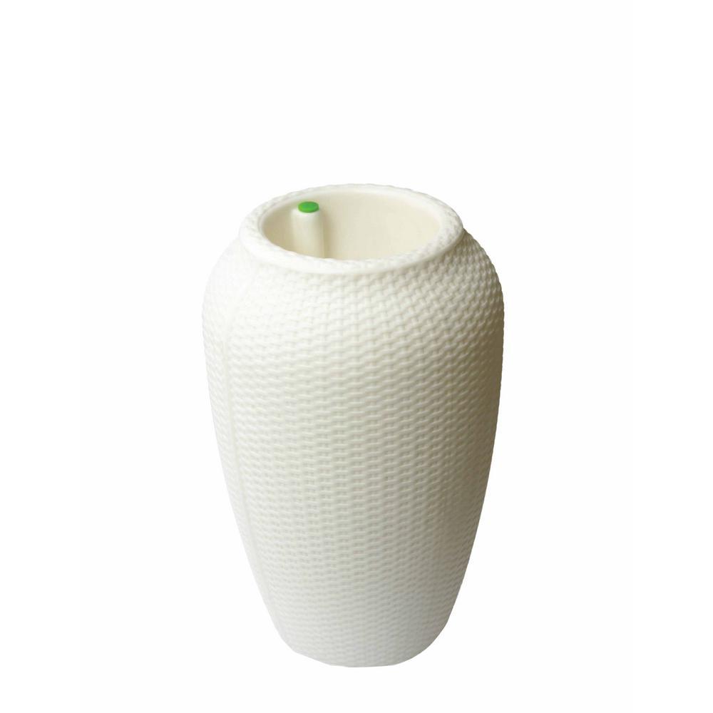 fbfd7e5d1cbc2 Bri 12 in. Lattice White Plastic Planter Fits 10 in. Drop-N-Bloom ...