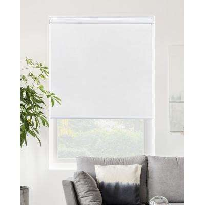 Snap-N'-Glide Corldess Byssus White Room Darkening Best for Kids Polyester Roller Shade