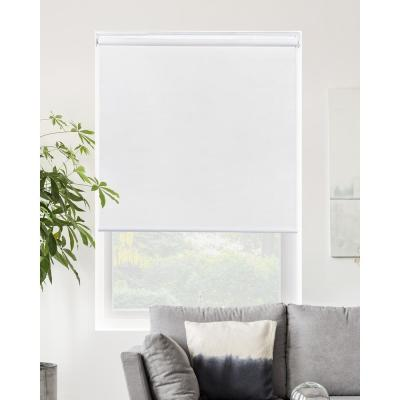 Snap-N'-Glide Byssus White Cordless Blackout Best for Kids Polyester Roller Shade 55 in. W x 72 in. L