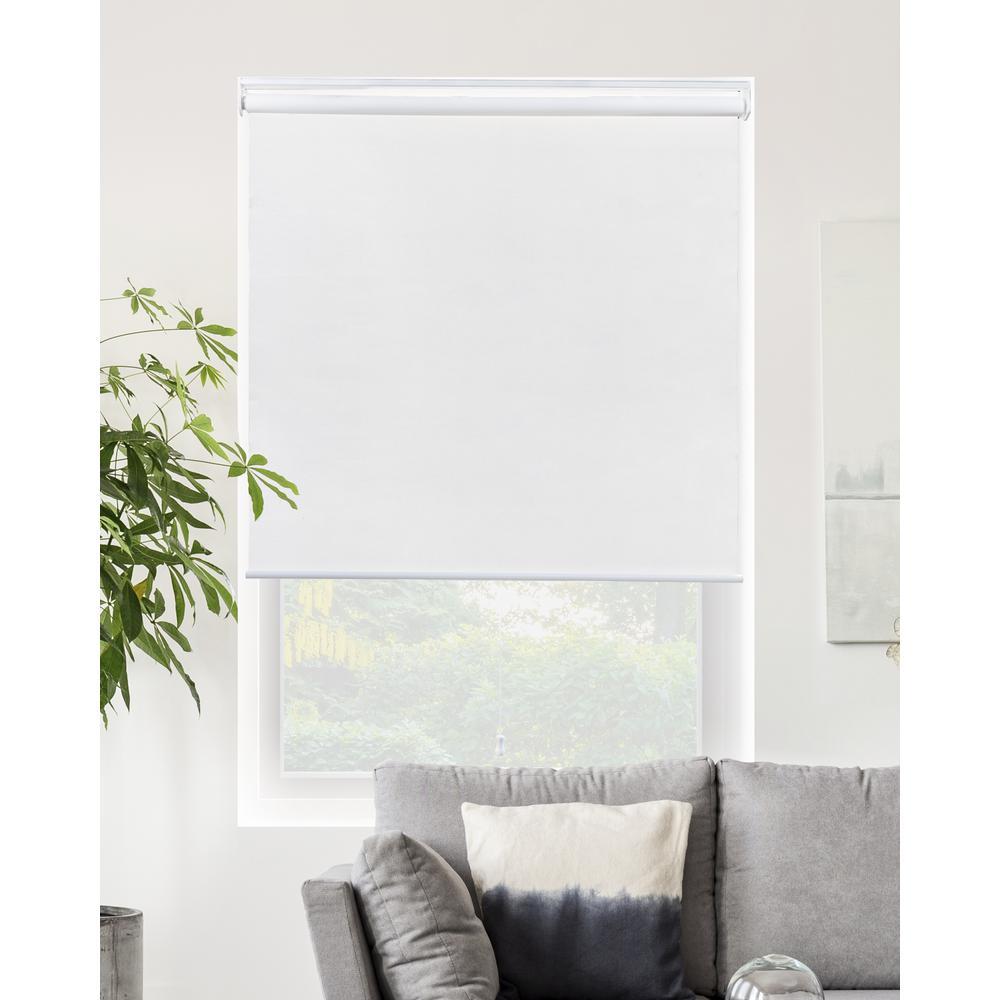 Snap-N'-Glide Corldess Byssus White Room Darkening Best for Kids Polyester Roller Shade