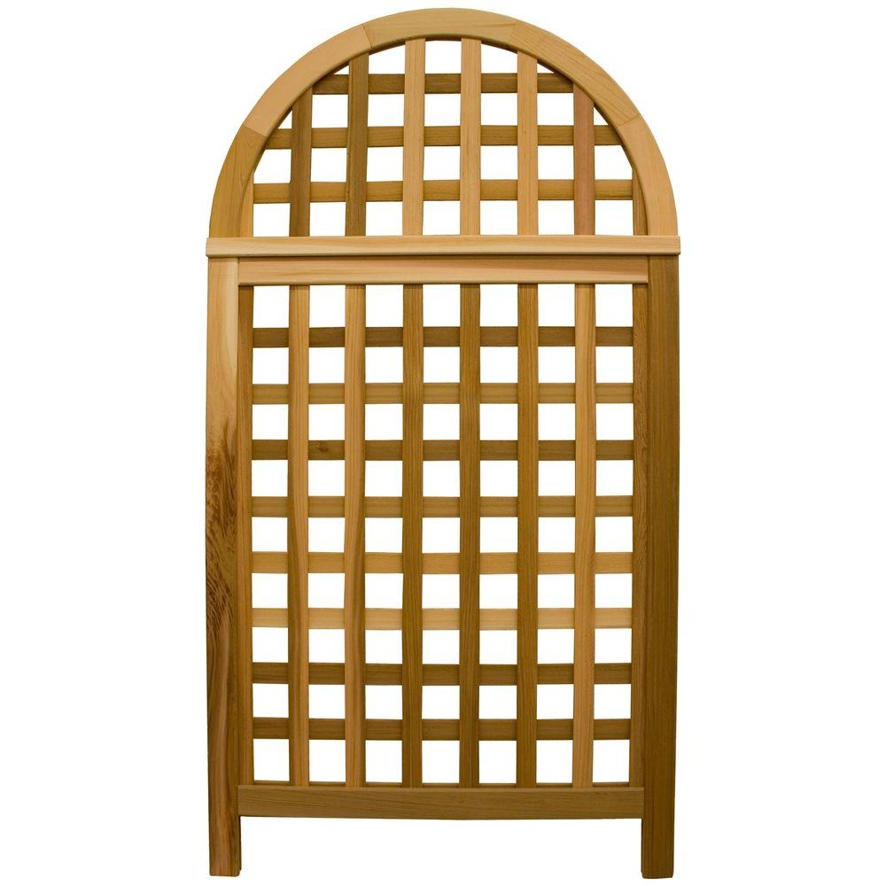 67 in. Cedar Andover Privacy Screen Trellis