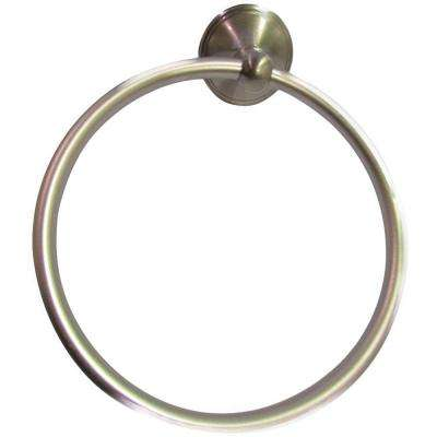 Annchester Towel Ring in Satin Nickel