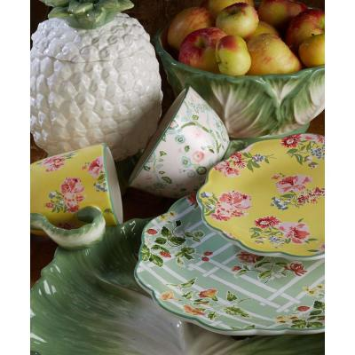 English Garden 16-Piece Seasonal Multicolored Earthenware Dinnerware Set (Service for 4)