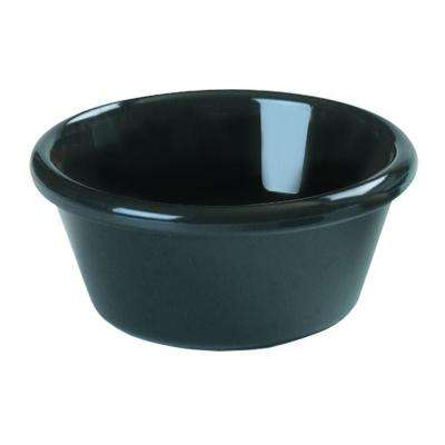 2 oz. SAN Plastic Smooth Sided Ramekin in Black (Case of 48)