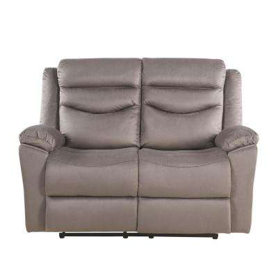Fiacre Brown Velvet Loveseat