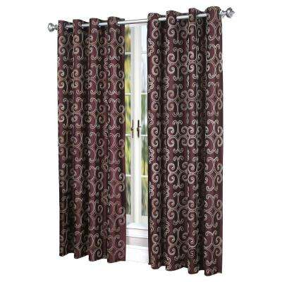 Semi-Opaque White Enchantment Curtain - 54 in. W x 84 in. L