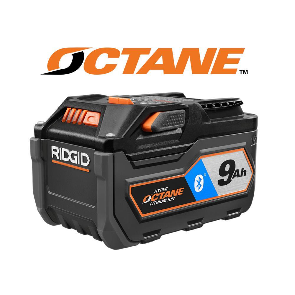 RIDGID 18 Volt OCTANE Bluetooth 90 Ah Battery AC8400809
