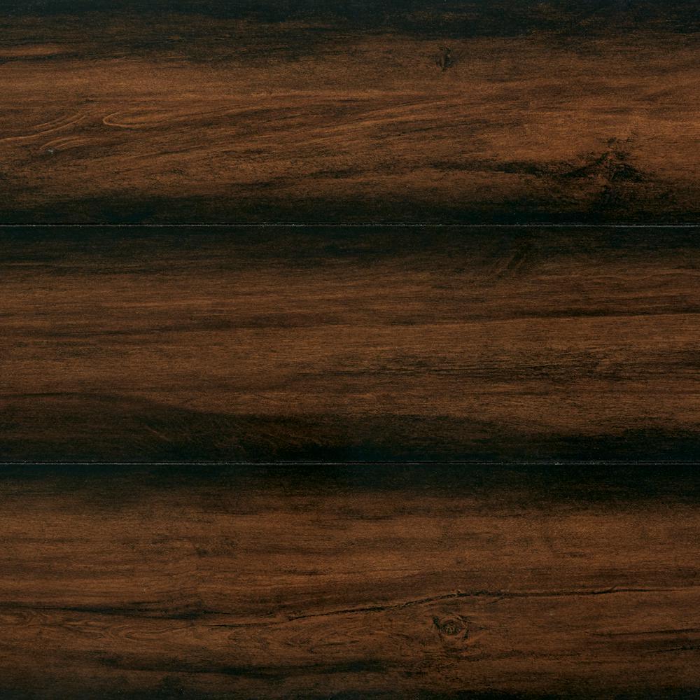 Take Home Sample - High Gloss Distressed Maple Auburn Laminate Flooring - 5 in. x 7 in.