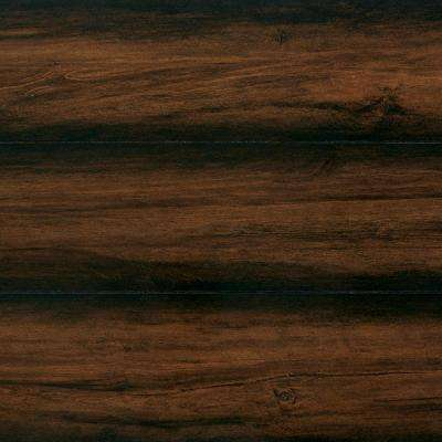 Take Home Sample - High Gloss Distressed Maple Auburn Laminate Flooring - 5 in. x 7 in.