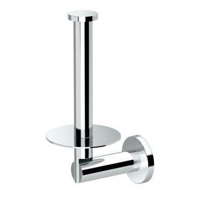 Channel Single Post Toilet Paper Holder in Chrome