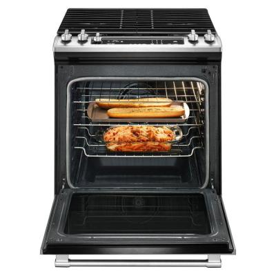 5.8 cu. ft. Slide-In Gas Range with True Convection in Fingerprint Resistant Stainless Steel