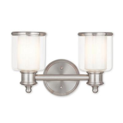 Middlebush 2-Light Brushed Nickel Bath Light