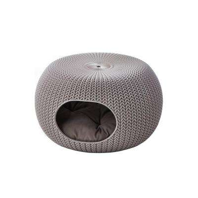 KNIT Cozy Small Sandy Resin Lounge Bed and Pet Home