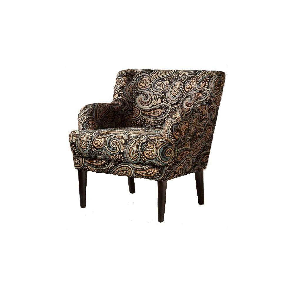 Home Decorators Collection Vincent Midnight 31.25 in. W Arm Chair