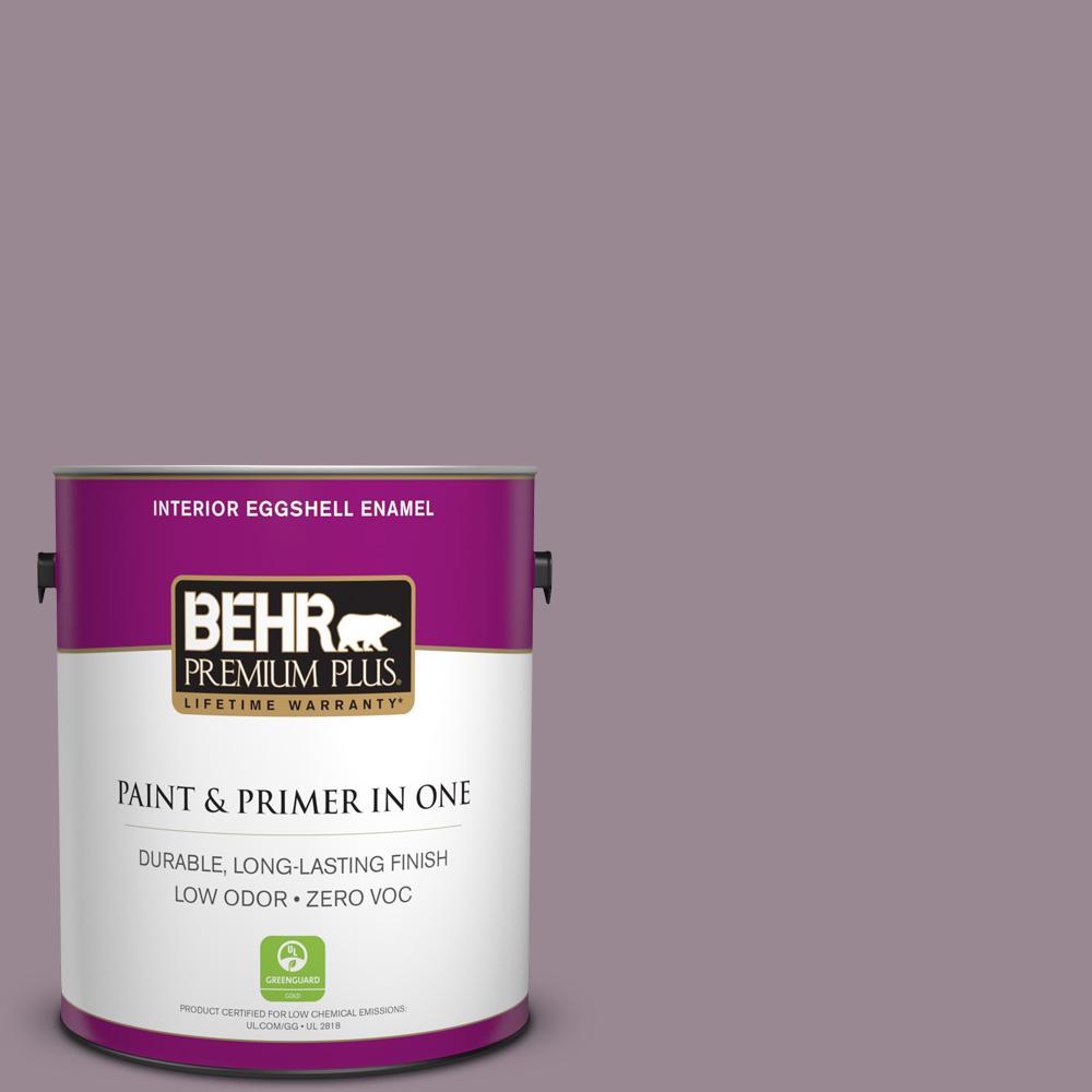 1-gal. #690F-5 Purple Mauve Zero VOC Eggshell Enamel Interior Paint