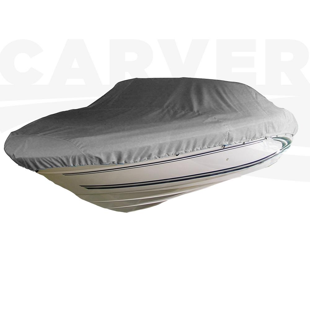 Styled-To-Fit Boat Cover For V-Hull Runabout Boats with Windshield and Hand