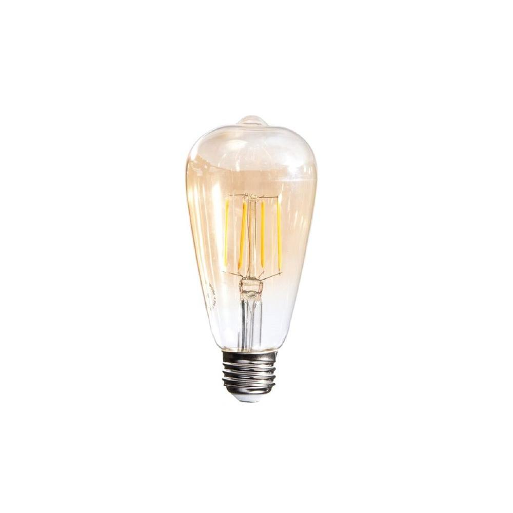 Ecosmart 40w Equivalent Soft White A19 Dimmable Filament: 40W Equivalent Soft White Vintage Filament ST64 Dimmable